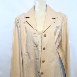 CHADWICK'S LEATHER JACK SIZE XL, IVORY COLOR